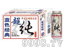 崂金泉啤酒蓝色经典超纯