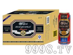 崂金泉啤酒12°(牛皮包装)