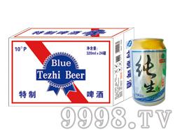 崂金泉蓝色特制啤酒