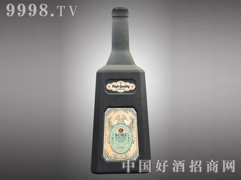 儒诚岩砂石工艺酒瓶・马爹利(黑)