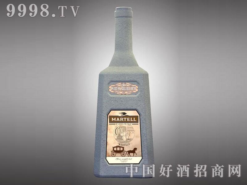 儒诚岩砂石工艺酒瓶・马爹利(白)