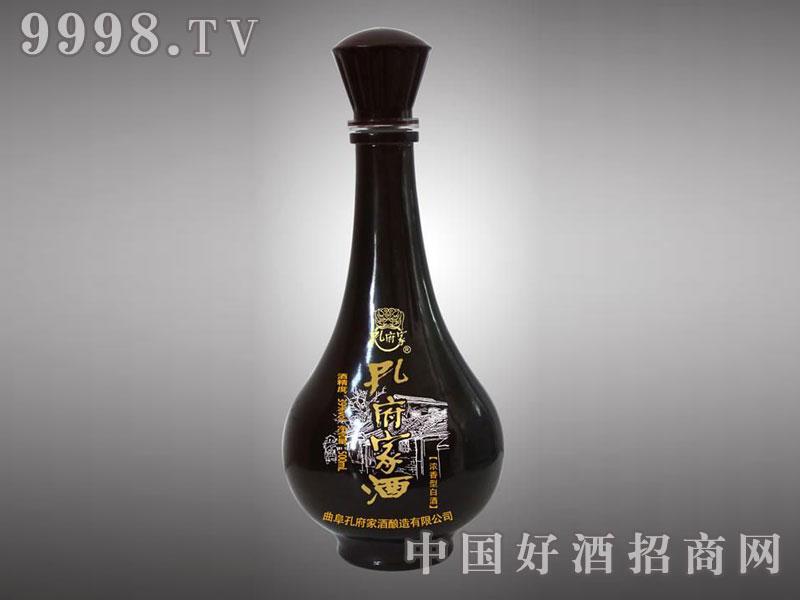 儒诚亮光釉工艺酒瓶・孔府家酒(黑)