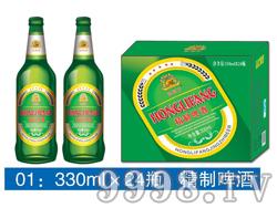 弘利方精制啤酒-330mlx24瓶