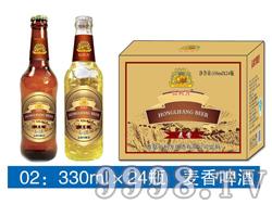 弘利方麦香啤酒-330mlx24瓶