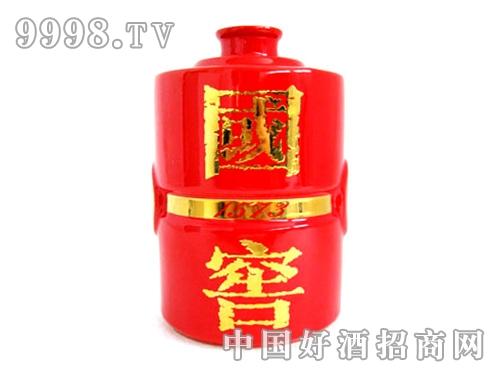 国窖1573酒瓶(红釉)
