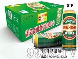 青雨绿精制啤酒500mlx12x24