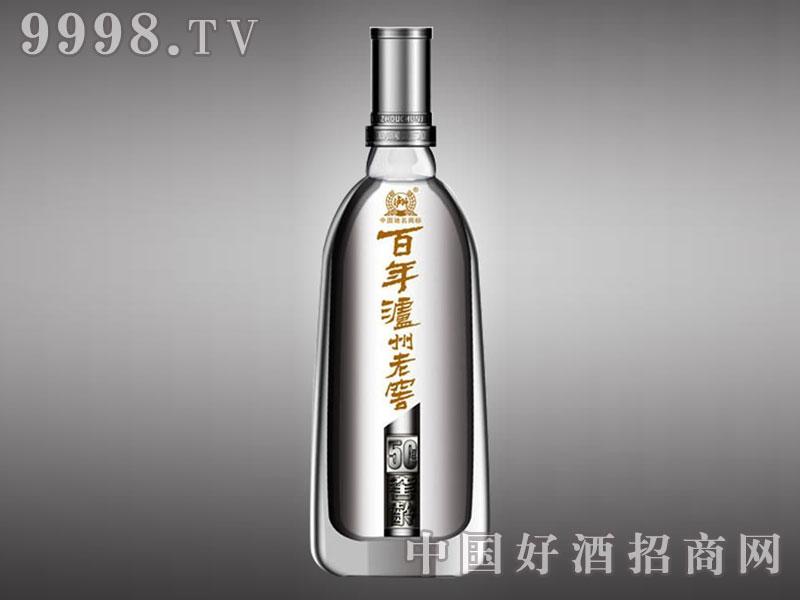 儒诚高温烤花工艺瓶・百年泸州老窖50