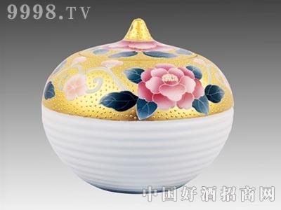 茶叶罐金镶玉白