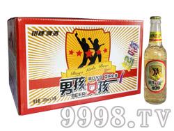 银稞啤酒男孩女孩一起嗨330ml(黄瓶)