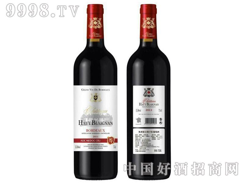 法国原瓶进口奥博莱古堡干红葡萄酒