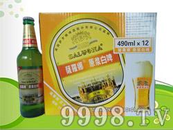 萨罗娜原浆白啤490ml×12