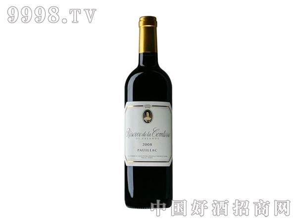 碧尚女爵堡副牌红葡萄酒 2008年