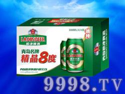 青岛崂津啤酒精品8度330ml