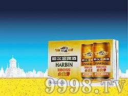 哈尔滨啤酒金麦芽(箱)啤酒