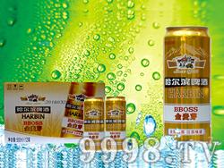 哈尔滨啤酒金麦芽500ml组合装