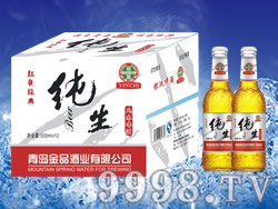 银池啤酒红色经典纯生500ml