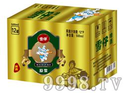 雪仔原浆啤酒12度500mlx12罐(箱)