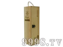 法国之光单瓶装松木盒