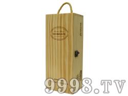 摩根单支装清漆木盒