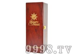 朱砂红亚光单瓶木盒