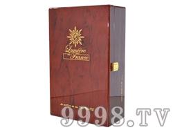 朱砂红烤漆双瓶木盒