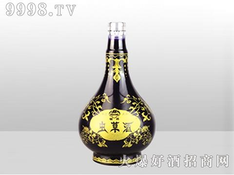 虫草酒喷涂彩瓶