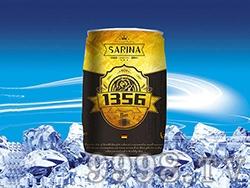 12°P萨瑞娜1356小麦原浆黑啤马口铁装