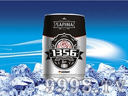 12°P萨瑞娜1356小麦原浆白啤马口铁装