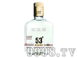 玫瑰缘53度(扁瓶165)葡萄蒸馏酒