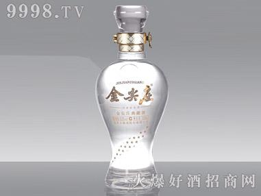 晶白玻璃瓶・金尖庄