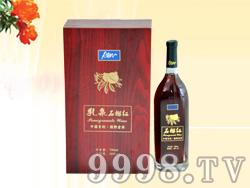红木盒石榴红酒