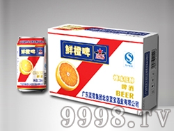 鲜橙味低醇啤酒