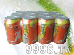 贝丽斯第五代蜜橙味汽水12罐320ml