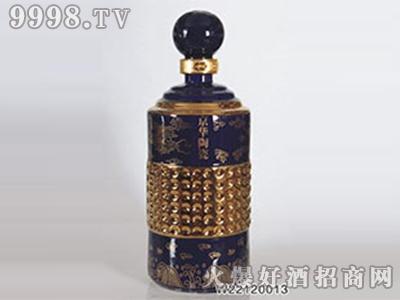 京华深蓝色酒瓶