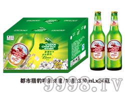 都市猎豹啤酒330ml×24瓶(绿瓶)
