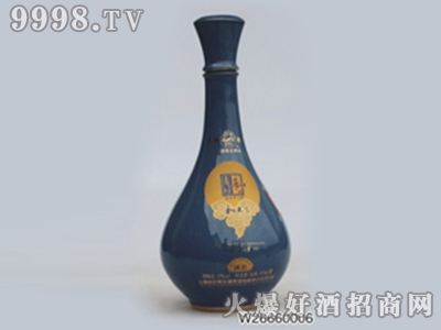 京华深蓝长瓶颈酒瓶