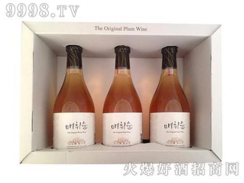 宝海青梅酒礼盒375ml×3瓶