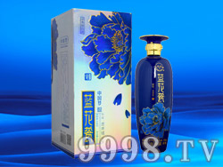天源中国梦酒蓝花瓷