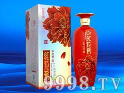 天源中国梦酒红花瓷