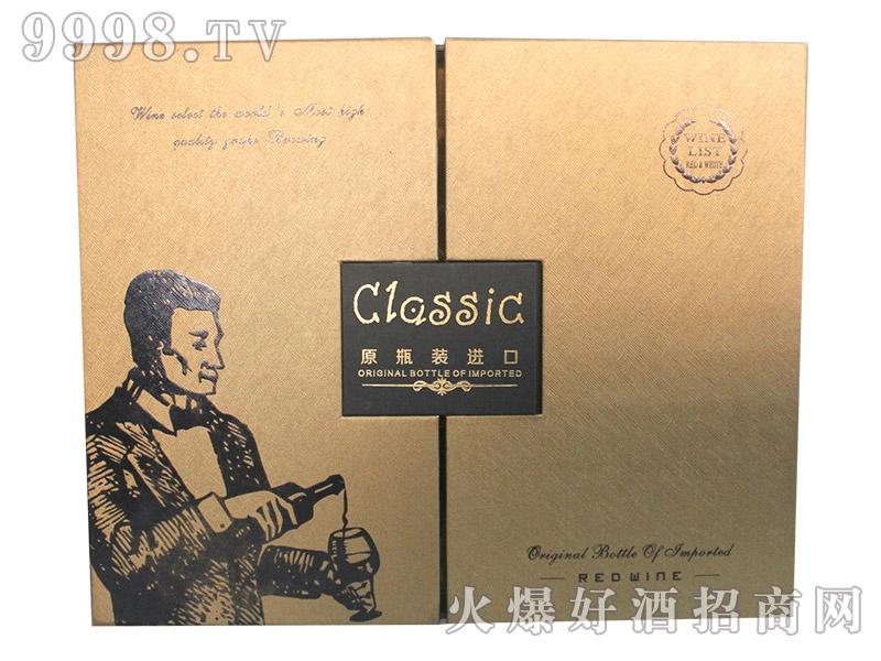 原瓶装进口红酒-双只卡盒(白)