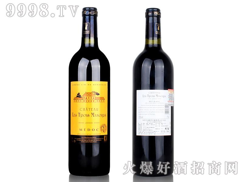 法国波尔多AOC进口红酒2008