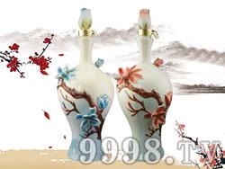 金铺子酒嵌花瓷酒