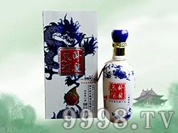 卧龙泉酒蓝花瓷41度