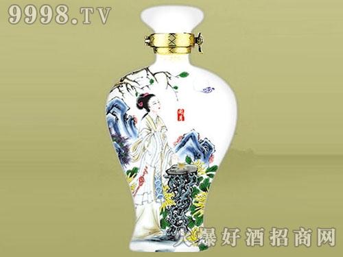 金鹏玻璃瓶汾酒白瓷JP-232-500ml