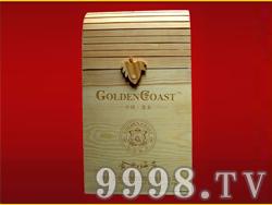 金色海岸葡萄酒双支木盒