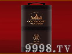 金色海岸葡萄酒金装双支皮盒(黑)