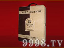 金色海岸葡萄酒金装双支皮盒
