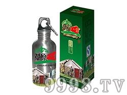 草原八贡酒250ml圆壶(不锈钢)