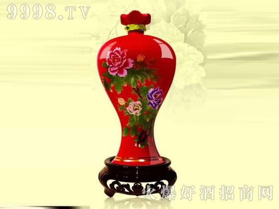 香芝喷涂彩瓶XZ-174牡丹花封坛