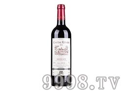 法国波尔多雷尼酒庄AOC干红葡萄酒